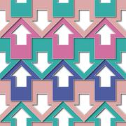 pastels color arrows pattern - stock illustration