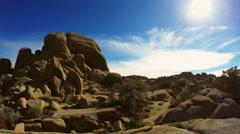 Joshua Tree National Park- Pan Skull Rock Hiking Area Stock Footage