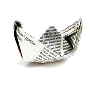 Studio shot of a paper boat on white background - stock photo