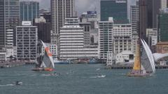 Volvo 2015 Ocean Race Auckland New Zealand Stock Footage