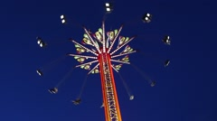 Fair ride shot at the West Coast Amusements Carnival Stock Footage