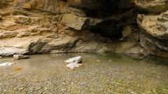 Mouth of Cavern Spring - stock footage