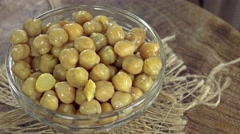 Preserved Chick Peas (not loopable) Stock Footage