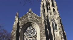 Cathedral Basilica of Christ the King/ 4k church footage Stock Footage