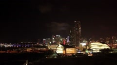Miami Skyline at Night Arkistovideo