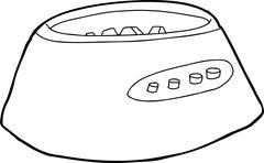 Blender Motor Base Outline - stock illustration