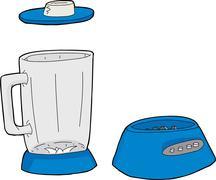 Blender Parts - stock illustration