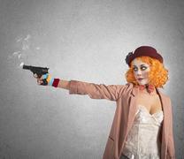 Clown thief shoots Kuvituskuvat