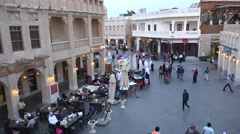 Stock Video Footage of Doha, Qatar, people visit Souq Waqif, traditional marketplace