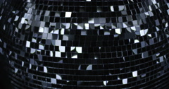 Mirrorball Disco Ball  Close Top View Stock Footage