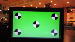laptop or notebook, copy space, green screen, in mall or bar. - stock footage