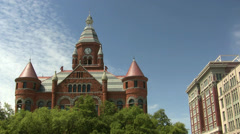Old Red Courthouse Downtown Dallas Texas Stock Footage
