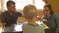 FAMILY Plays Game Together Stock Footage