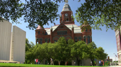 Old Red Court House JFK Memorial Site Dallas Texas Stock Footage