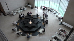 Restaurant inside Museum of Islamic Art in Doha, Qatar Stock Footage