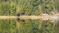 Cabin Reflections, Autumn Stock Footage