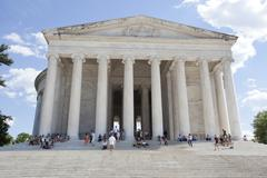 WASHINGTON D.C. - MAY 25 2014: The Thomas Jefferson Memorial, modeled after t Stock Photos