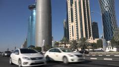 West Bay financial district in Doha, Qatar Stock Footage