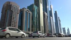 Dubai skyline, rush hour traffic, financial and business center, Middle East Arkistovideo