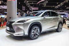 The all-new 2015 Lexus NX 300h Hybrid Stock Photos