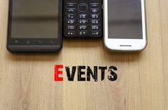Mobile Telephones Text Concept Events - stock photo