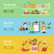 Gmo Banner Set - stock illustration