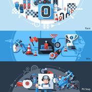 Stock Illustration of Racing Banner Set