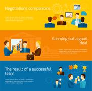 Partnership Banners Set - stock illustration