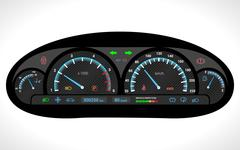 Car Dashboard Isolated Piirros