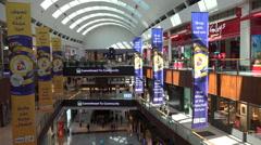 Dubai Mall, shopping center, commercial activity - stock footage