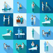 Doctors Icons Set - stock illustration