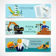 Construction Banners Set Stock Illustration