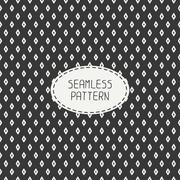 Geometric line seamless pattern with rhombus, square. Paper for scrapbook - stock illustration