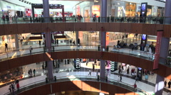 Dubai Mall, the largest shopping center in the world Stock Footage