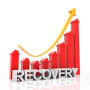 Real estate recovery chart, 3d render Stock Illustration