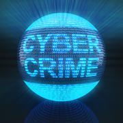 Cyber crime - stock illustration