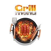 Grill Menu Design - stock illustration