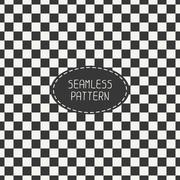 Geometric monochrome hipster squares seamless pattern. Paper for scrapbook Stock Illustration
