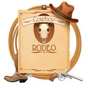 Stock Illustration of Rodeo Retro Poster