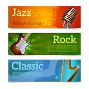 Stock Illustration of Music Festival Banners
