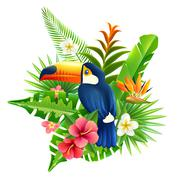 Stock Illustration of Tropical Flowers Illustration