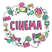 Cinema Design Concept Stock Illustration