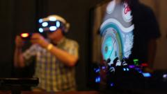 Stock Video Footage of Virtual Reality Los Angeles Expo