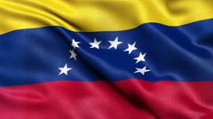 4K Venezuela flag seamless loop Ultra-HD Stock Footage