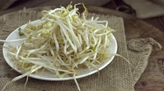 Portion of Mungbean Sprouts (loopable) Stock Footage