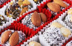 Candy with nuts - stock photo