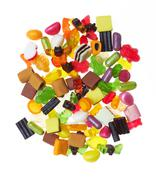 Assortment of colorful candy Stock Photos
