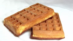 Viennese waffles Stock Footage