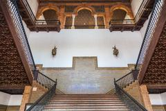 Spanish Renaissance Revival Staircase Stock Photos