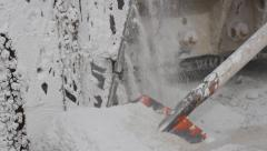 Marble quarry, white marble, stone cutting Stock Footage